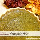 Gluten Free Dairy Free Pumpkin Pie