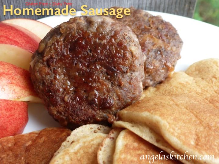 Homemade Sausage, gluten free dairy free