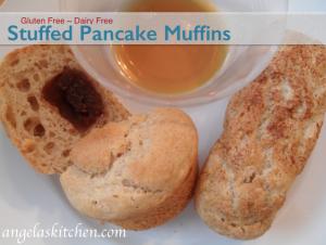 Gluten Free Dairy Free Stuffed Pancake Muffins
