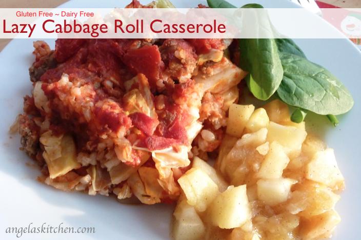 Lazy Cabbage Roll Casserole-gluten free-dairy free