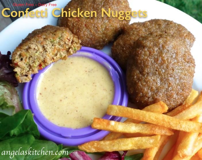 Confetti Chicken Nuggets, Gluten & Dairy Free