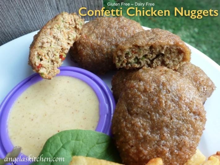 confetti chicken nuggets, gluten free dairy free
