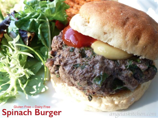 Spinach Burger, Gluten Free Dairy Free