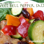 gluten free dairy free sweet bell pepper salad