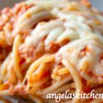 Baked Eggplant & Zucchini Spaghetti