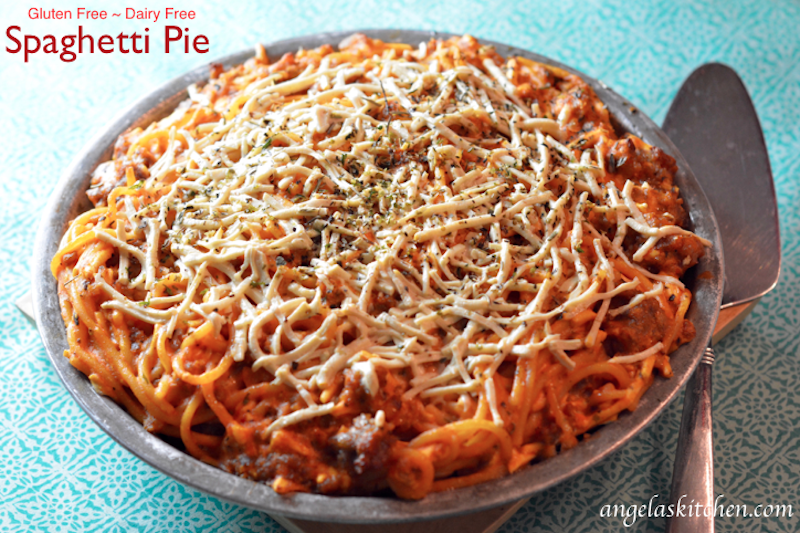 Spaghetti Pie, Gluten Free Dairy Free