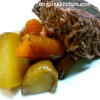 Beef Roast and Vegetables in a Slow Cooker