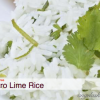 Gluten Free Dairy Free Cilantro Lime Rice with freezer instructions