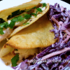 Fish Tacos and Red Cabbage Slaw