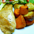 Chicken and Rosemary Roasted Veggies - Gluten Freezer Friday