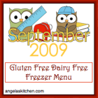 Gluten Free-zer Friday - adaptions of September 2009 OAMMom Dinners