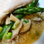 Cod in Green Tea Broth with Quinoa