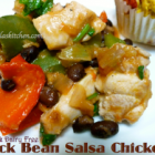 Black Bean Salsa Chicken, Slow Cooker