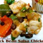 Black Bean Salsa Chicken, Slow Cooker