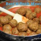 Beef & Pork Meatballs, Gluten Free Dairy Free
