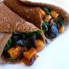 Savory Buckwheat Crepes with Roasted Sweet Potato, Mushroom and Kale Filling - Gluten Free Ratio Rally