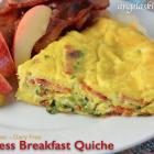Crustless Breakfast Quiche, Gluten & Dairy Free
