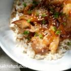 Honey Bourbon Chicken in the Slow Cooker