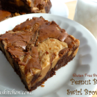 Gluten Free-zer Friday - Peanut Butter Swirl Brownies