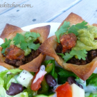 Taco Cups made with Pillsbury's Gluten Free Pie and Pastry Dough
