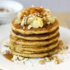 Kicked up Gluten & Dairy Free Carrot Cake Pancakes
