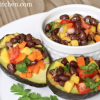 Black Bean Mango Salad Stuffed Avocados