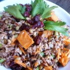Wild Rice Sweet Potato Salad with Pepitas at The Balanced Platter