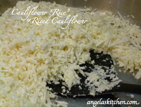 "Gluten Free Dairy Free Cauliflower ""Rice""/Riced Cauliflower"