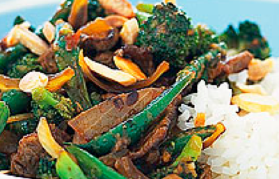 Beef and Almond Stir Fry