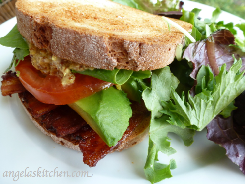 gluten free dairy free BLT with avocado