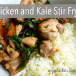Gluten Free Dairy Free Chicken and Kale Stir Fry