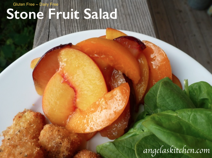 Stone Fruit Salad-Honey-Lime, gluten free, dairy free
