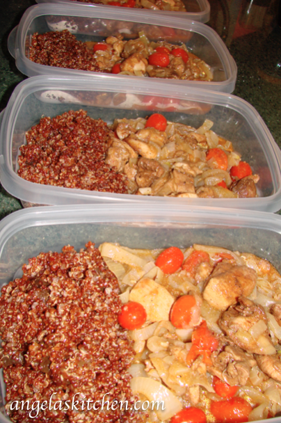 gluten Free Dairy Free Moroccan Chicken Tagine and Apricot Quinoa Pilaf-Lunches for Freezer OAMC