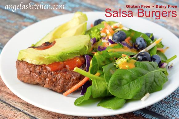 Gluten Free Dairy Free Salsa Burger