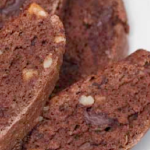 Gluten Free Dairy Free Dark Chocolate Ginger Walnut Biscotti