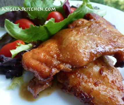 Gluten Free Dairy Free Barbecue Glazed Chicken