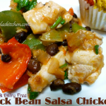 Slow Cooker gluten free diary free black bean salsa chicken