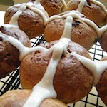 Gluten Free Dairy Free Hot Cross Buns mini