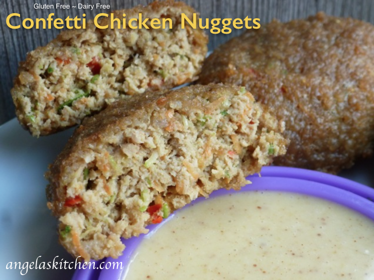 Gluten Free Veggie Confetti Chicken Nuggets, dairy free