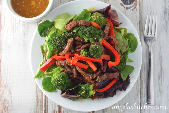 Ginger Beef and Broccoli Salad