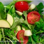 Simple Arugula Garden Salad