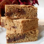 GFCF Peanut Butter Chocolate Chip Blondies