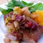 Pork Chops with Apple-Cranberry Sauce, Slow Cooker