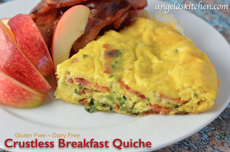 Dairy Free Gluten Free Crustless Breakfast Quiche