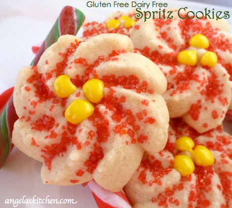 gluten dairy free christmas cookie countdown spritz cookies