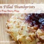 Gluten Free Dairy Free Jam Filled Thumbprints