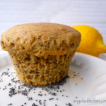 Gluten & dairy free lemon or almond poppy seed muffins