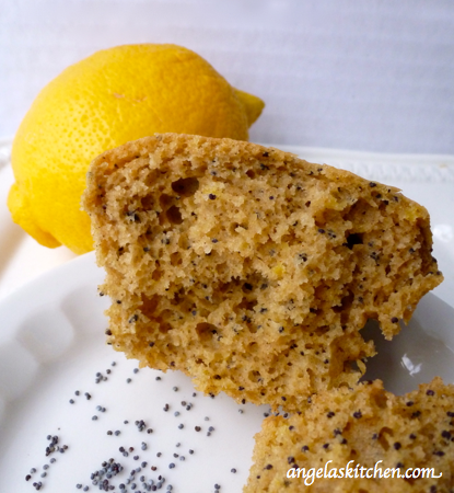 Gluten Free Dairy Free Lemon or Almond Poppy Seed Muffin