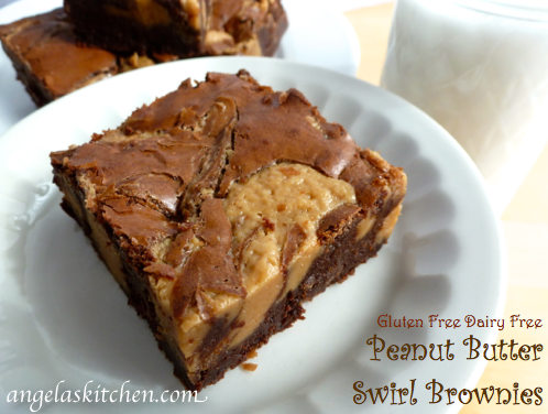 Gluten Free-zer Friday – Peanut Butter Swirl Brownies