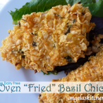 "Oven ""Fried"" Basil Chicken"